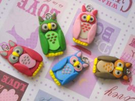 Owl pendants by rude-and-reckless