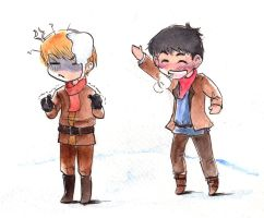snowball fight by Ta-moe