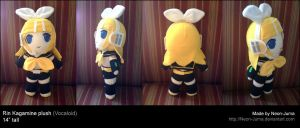 Standing Rin plushie by Neon-Juma