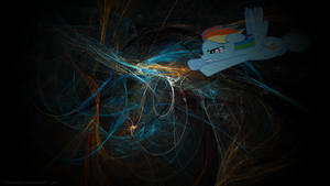 Rainbow Dash Fractal Wallpaper by Silentmatten