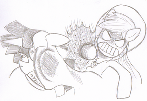 AJ punches Dusk (sketch) by Solratic