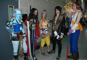 Gender-bent Final Fantasy 10 Group by ArcaneArchery