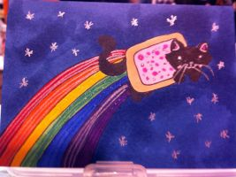 Nyan Cat ACEO by bittykitty