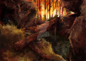 A Bridge Out by Dreamsoffools