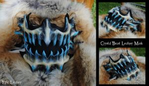 Commission: Crystal Beast Leather Mask by Epic-Leather
