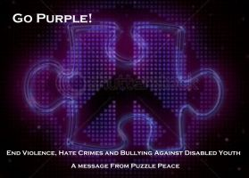 Go Purple for Puzzle Peace by SailorStephie