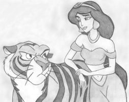 Jasmine and Rajah by lordsnoopy