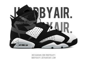 Hood By Air x Air Jordan 6 by BBoyKai91