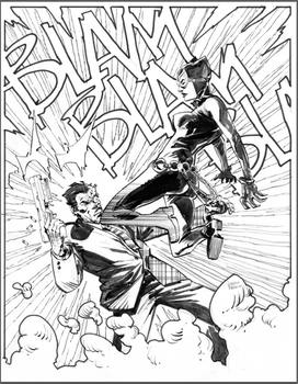 Catwoman v Twoface commission by thisismyboomstick