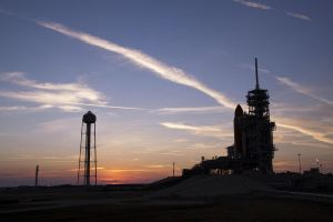 Sunrise at Pad 39A 2 11 2011 by jswis