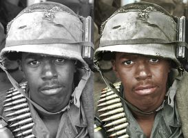 Vietnam Soldier - before after by B-D-I