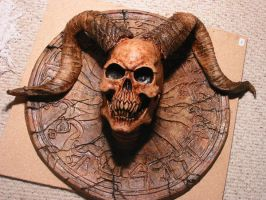 SATAN WALL PLAQUE by chuckjarman