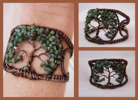 Tree of Life Cuff by KarenOlwen