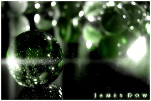 Green Marbles by PhotoDow
