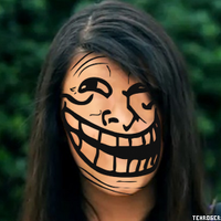 Rebecca Black Troll Face by dbgtrgr