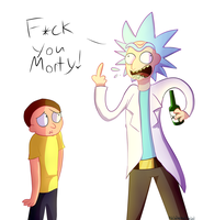 Rick and Morty fanart by Madistar2001