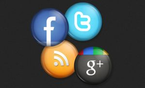 Social Buttons by bestpsdfreebies
