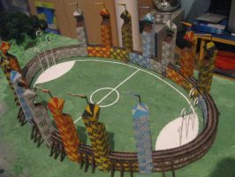 My Quidditch pitch model by SandrinoP