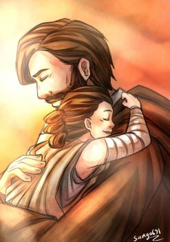Obi Wan And Rey  by sango691