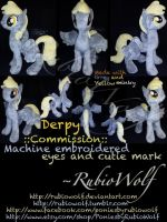 MLP Large Mare Derpy Hooves ::Commission:: by RubioWolf