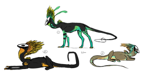 Serpex Species adopts by CoyoteSoot