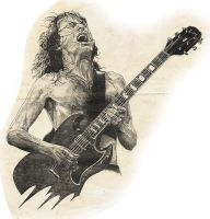 Angus Young by Ralf-Amun