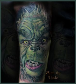 Grinch-portrait-by-Todo-ABT-Tattoo by TodoArtist