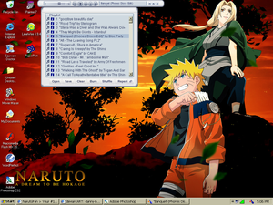 Naruto n Tsunade Desktop by danny-boy