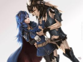 Lucina x Yarne - Commission by 69Geist