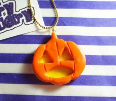 Jack O' Lantern Necklace by tyney123