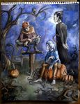 Halloween trio by AllyEdFrown