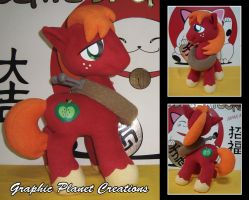 My Little Pony Big Macintosh Plush by GraphicPlanetDesigns