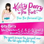Katy Berry - Katy Perry Font by KeepWaiting