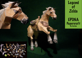 Epona Papercraft by TheFandomEdson