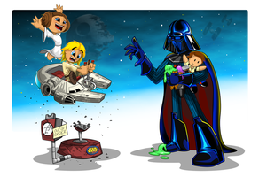 Darth Vader and kids by kudoze