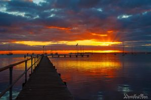 Griffiths Gully Jetty Sunrise Revisited 2 by DanielleMiner