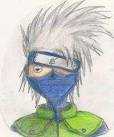 Hatake Kakashi with colours by AkatsukiFan505