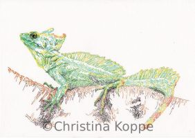 Green Basilisk by CKArtpage