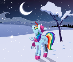 Winter night by Margony