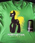 Monster Energy Pony T-Shirt by JustinSaneV2