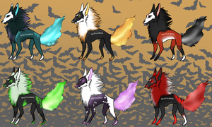 Hallowed Hounds Adopts (TWO LEFT) by VeeSama