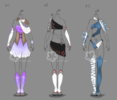 Some Outfit Adopts #13 - sold by Nahemii-san