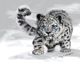 Snowshoe the Snow Leopard by mkmars