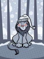 Frosty Lion by jackieocean