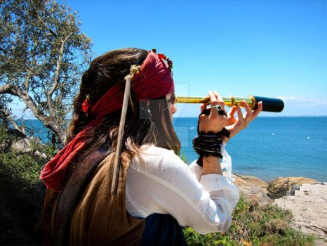 Elo Sparrow, telescope sea by elodie50a