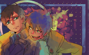 Ao no Exorcist colored by pho3nixdown