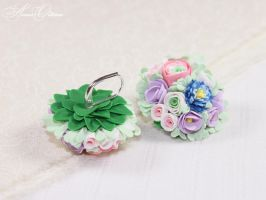 Bouquet of Flowers by OrionaJewelry
