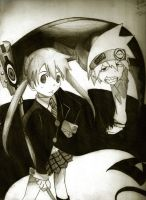 Soul and Maka by DragonfireXAgent