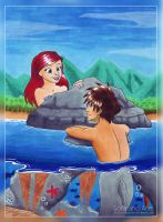 Sora And Ariel 2014 by WhiteWingedAnwe