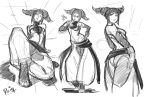 Juri Street fighter Roughs by reiq